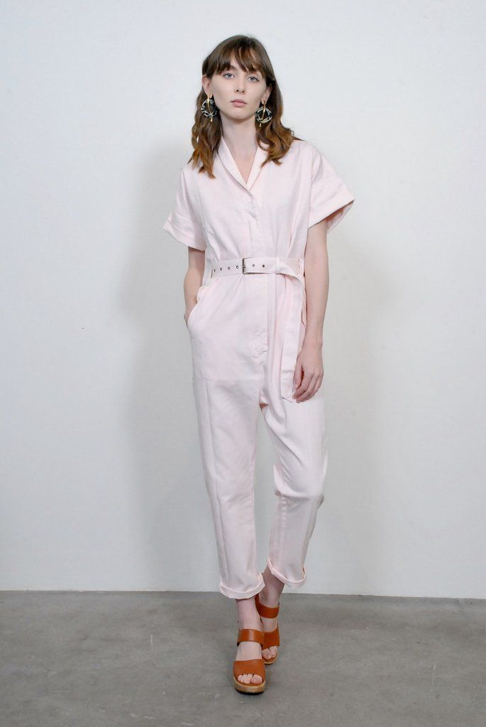b8719a50f3f Rachel Comey Pitch Jumpsuit- Pink Chino Twill