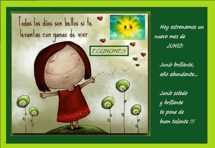 acogiendo el mes de Junio con alegria !!