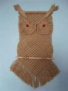 Owl Wall Hanging Made From Jute.