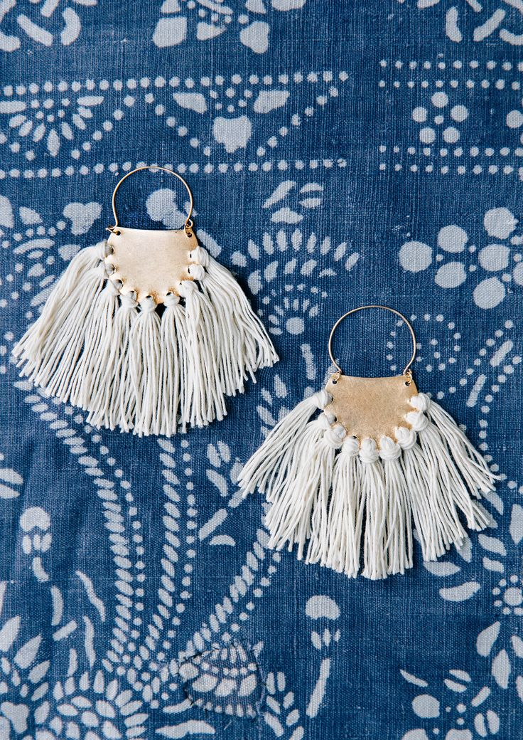D I Y fringe earrings