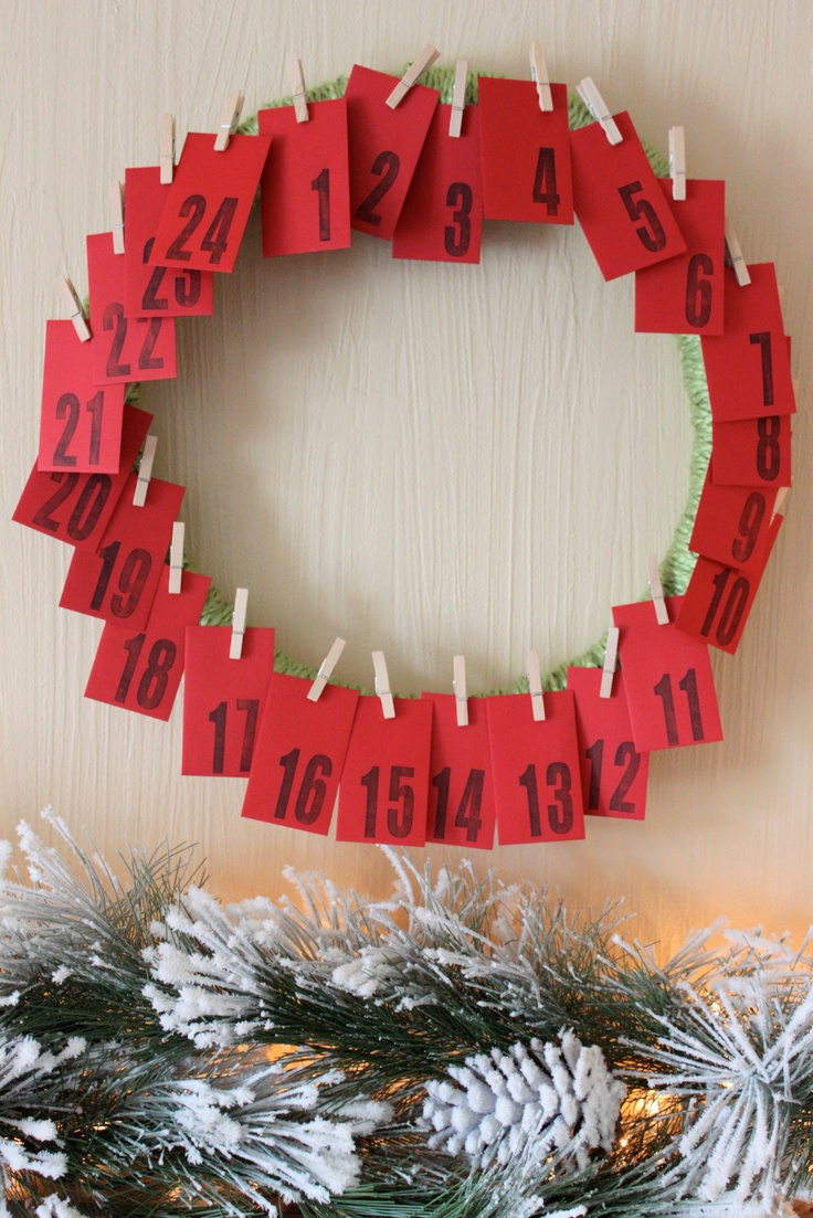 DIY Advent Calendar - Each red envelope has a different Christmas activity.