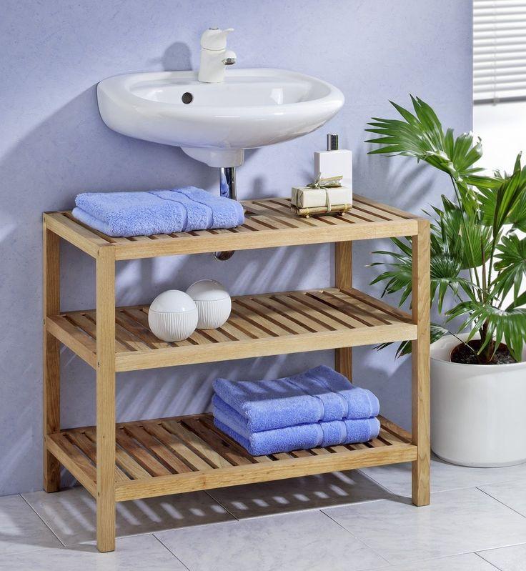 Waschbeckenunterschrank Waschbeckenregal Badezimmerregal, aus Walnussholz in Möbel & Wohnen, Möbel, Badmöbelsets   eBay!
