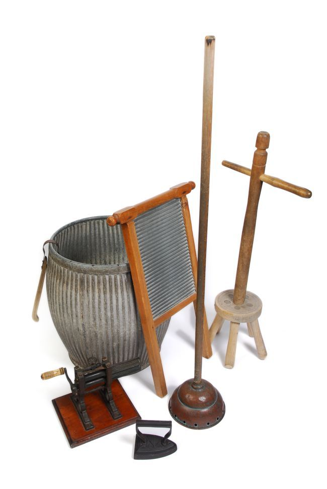 Laundry Tools used by the Victorians © Calderdale Libraries, Museums and Arts