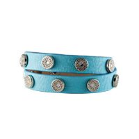 SOUTH HILL SIGNATURE WRAP TURQUOISE WITH SILVER STUDS