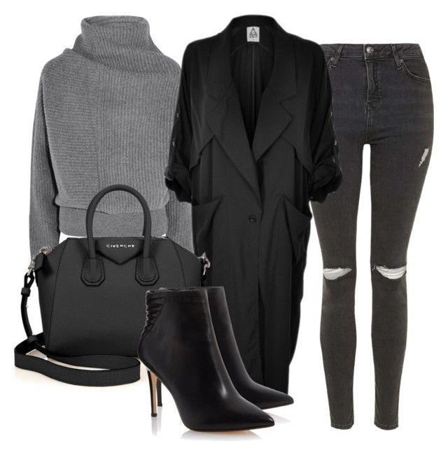 """""""BLACK X GREY"""" by kwasheretro on Polyvore featuring Topshop, Acne Studios, UNIF and Givenchy"""