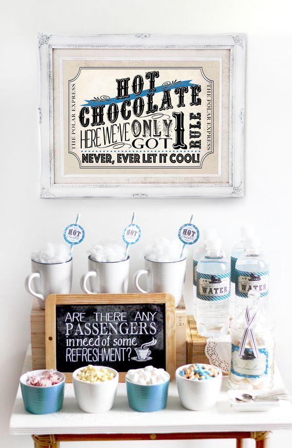 Polar Express Christmas Party Ideas Part - 24: Polar Express Hot Chocolate Pack Blue. Polar Express Christmas PartyPolar  ...