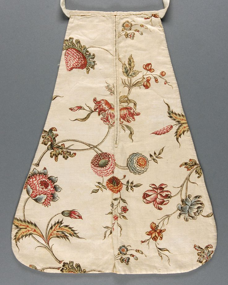 """Philadelphia Museum of Art - Collections Object : Woman's Pocket: 16""""x12"""", printed cotton plain weave, twill tape, acc no. 1966-153-12"""