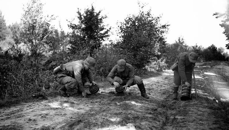 Sappers laying mines.