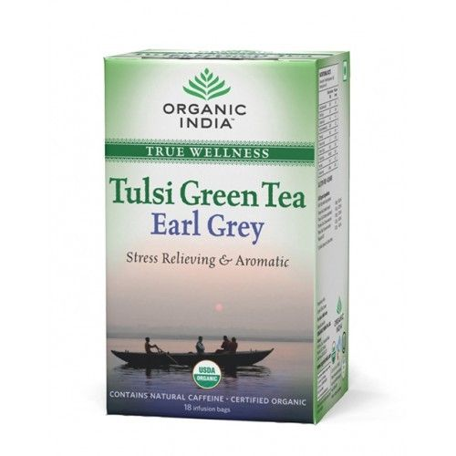 Organic India Tulsi Green Earl Grey 18 Tea Bags Buy