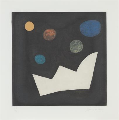 John McLean (Born 1939) Benison 1999-2000 Etching with chine collé