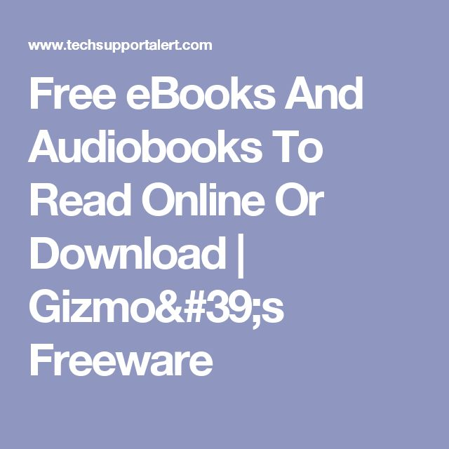 82 best freebies images on pinterest free ebooks and audiobooks to read online or download gizmos freeware fandeluxe Choice Image