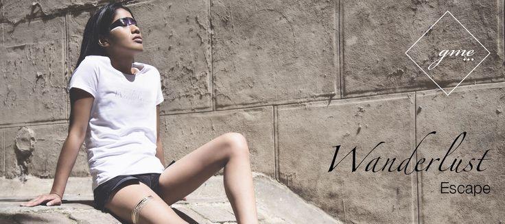 Tshirt blanc: Wanderlust. Découvrez la nouvelle marque française de t-shirts tendance  gma-paris.