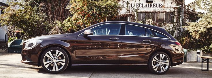Exploring modern backyards and historic alleyways in the CLA Shooting Brake.