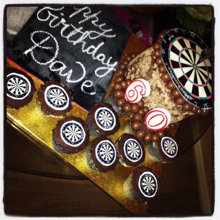 Dave's 60th dart checkerboard cake