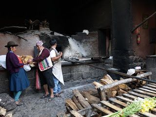 Sacred Valley of Peru - #Woodfire flatbreads (plain empanadas) #gourmettrails
