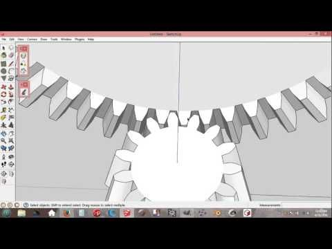 Easy Bevel Gears Arrangement In Sketchup ( Ratio & Pitch Angle ) - YouTube