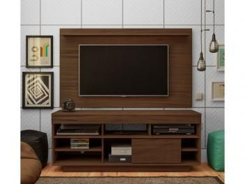 """Rack Para TV Até 47"""" Com Painel Roma - 1 Porta De Correr - Artely"""