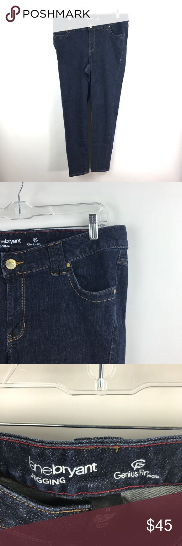 """Lane Bryant Jegging Dark Wash Jeans Sz 14 382/734 Lane Bryant Jegging Jeans Dark Wash Denim Women's Size 14 Skinny Stretch EUC   Measurements: Waist: 18"""" Flat Across Rise: 11"""" Long Inseam: 28"""" Long  In excellent preowned condition with no known flaws and light overall wear. Lane Bryant Jeans Skinny"""