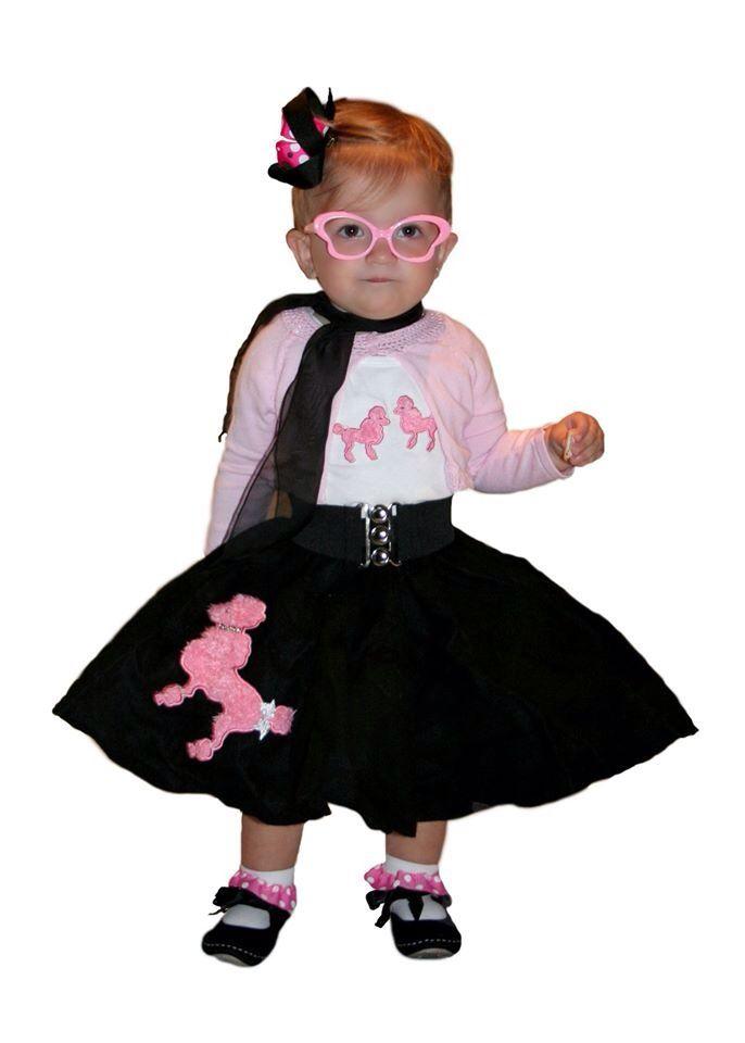 Halloween Costume 50s Girl Poodle Skirt