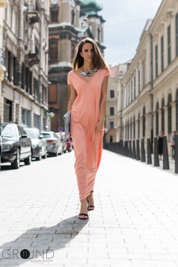 maxi dress, long dress, outfit, fashion, summer, pink,