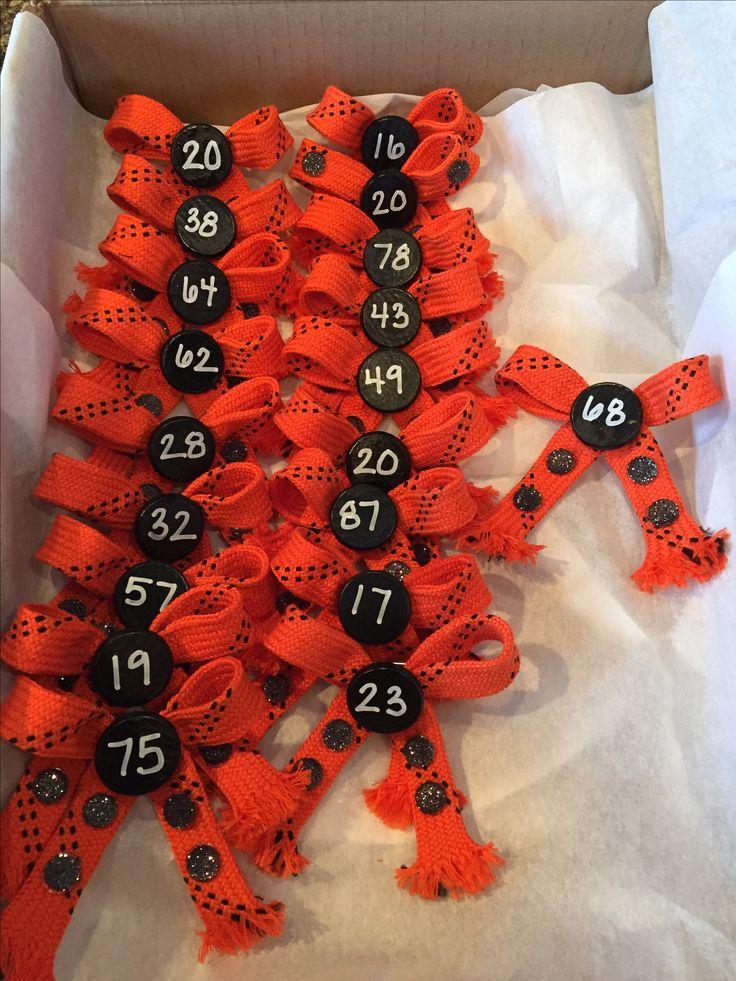 Hockey Mom Bow Pins