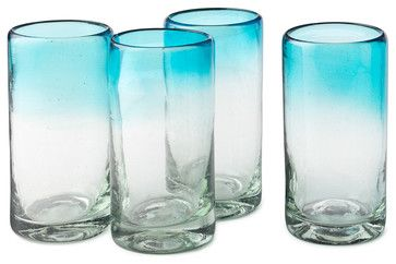 Ombré Water Glasses contemporary everyday glassware