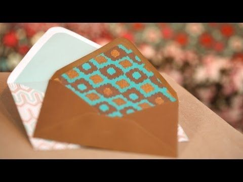 envelope liner tutorial, complete with video.
