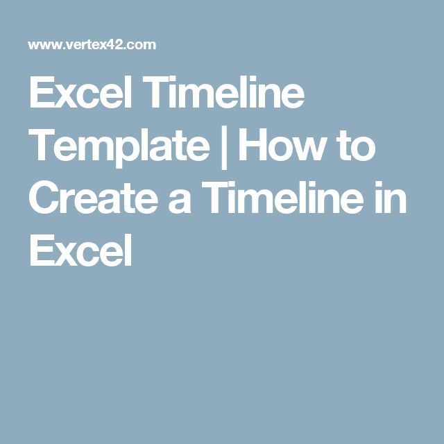 Excel Timeline Template | How to Create a Timeline in Excel