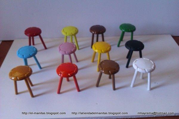 el mundo de las manualidades y la artesanía: tutorial de taburete con abalorios