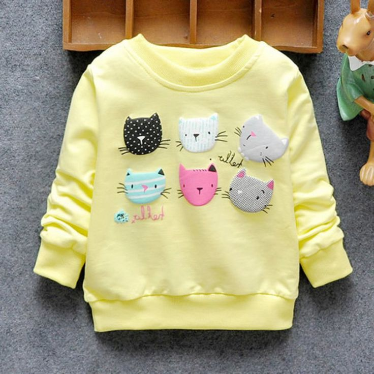 >> Click to Buy << Cartoon Cat Print Girls Sweatshirts 2017 Autumn Casual Kids Clothes Long Sleeve Baby Girl Pullover Girls Clothing #Affiliate