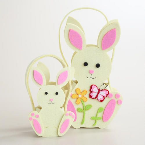 Felt Bunny Containers