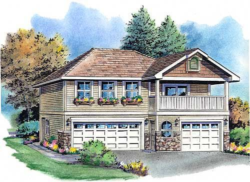 1000 images about garage apartment plans on pinterest 3 for Plans for 3 car garage with apartment above