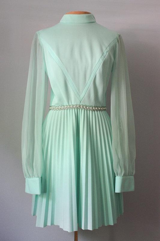 Vintage 70s Mint Green Accordion Party Dress XS-S. $40.00, via Etsy.Mint Green, Green Accordion, 70S Mint, Accordion Parties, Parties Dresses, Dresses Xss, Beautiful Ideas, Dresses Xs S, Vintage 70S