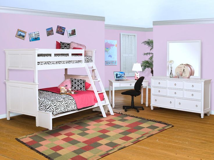 Tamarack White Bunk Collection  Kid s Bedroom. 17 Best images about Youth Bedrooms on Pinterest   Bunk beds for