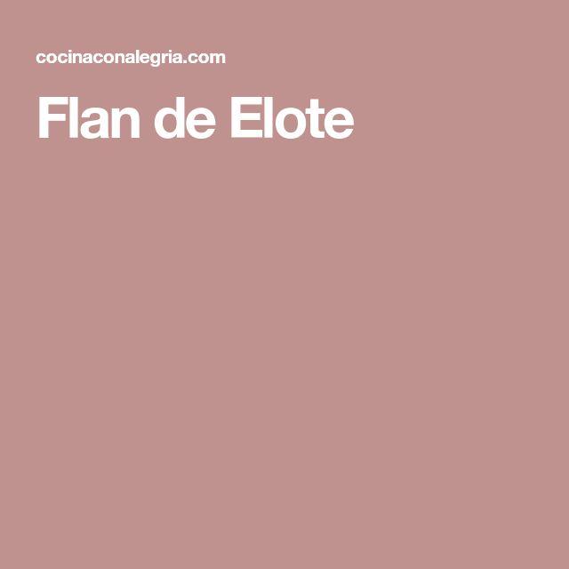 Flan de Elote