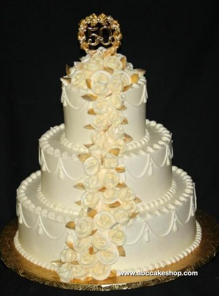 17 Best Images About 50th Wedding Anniversary Cakes On Pinterest