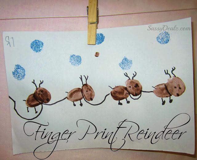 Adorable fingerprint reindeer craft for kids sassydealz - Sassydeals com ...