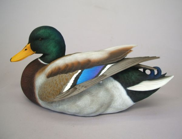 """These are Jett Brunet carved.  They are beautiful on the piano, they look like they are swimming!  The Mallard is the most recognized duck species in the world. In South Louisiana the Cajuns refer to them as """"Green Heads"""".  Taking Orders Now. This Item will be in stock & Delivered in  July 2010."""