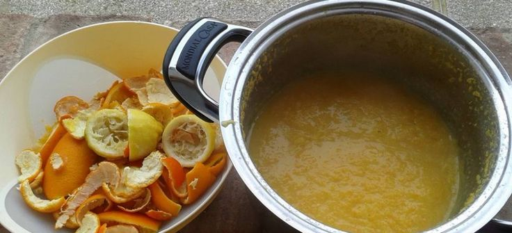 Detersivo piatti realizzato con scorze di agrumi