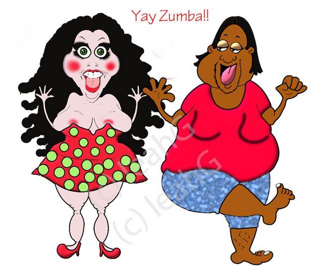 Funny Zumba Cartoon - Dance Your Weight Off!