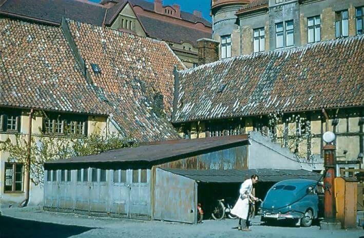 Humlegatan/Östergatan i mitten av 50-talet.