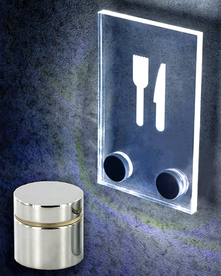 Outwater introduces its new series of LED Integrated Standoffs for Signage Displays, a novel concept that utilizes the acrylic or Plexiglas Sign Holders to which the Standoffs have been affixed as the medium to diffuse backlit illumination to mounted Graphics, Posters and Promotional Messages.