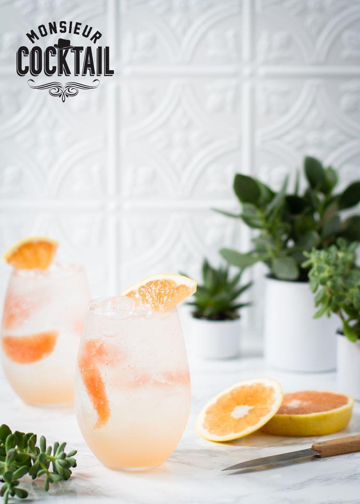 Cocktail Paloma: téquila Patron, élixir de pamplemousse Monsieur Cocktail, soda