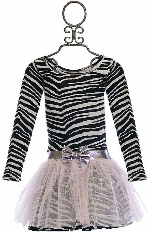 Ooh la la Couture Zebra Print Dress with Pink Tutu (Size 2T)