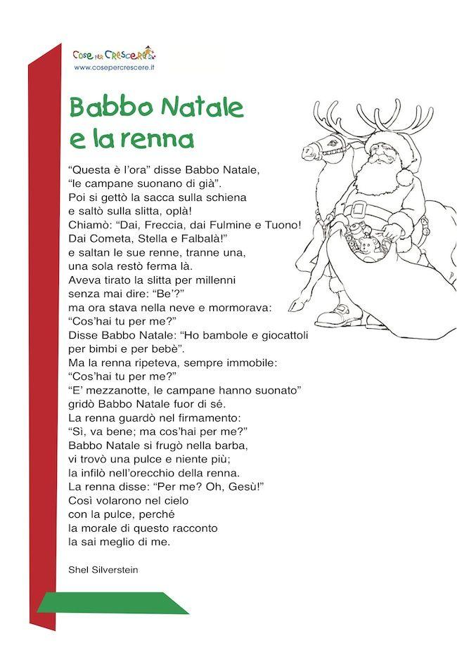 Storia Babbo Natale Bambini.Poesia Di Natale Per Bambini Natale Natale Italiano Schede Natale