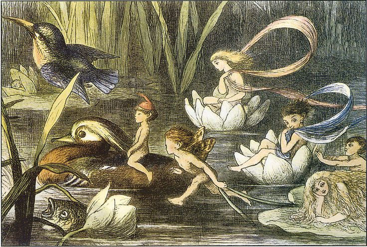 """""""Fairies and Water Lilies"""" Circa 1870   by Richard Doyle"""