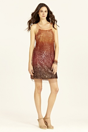 Gradient Sequin Dress inspired by the colors of the summer sunset. Nice
