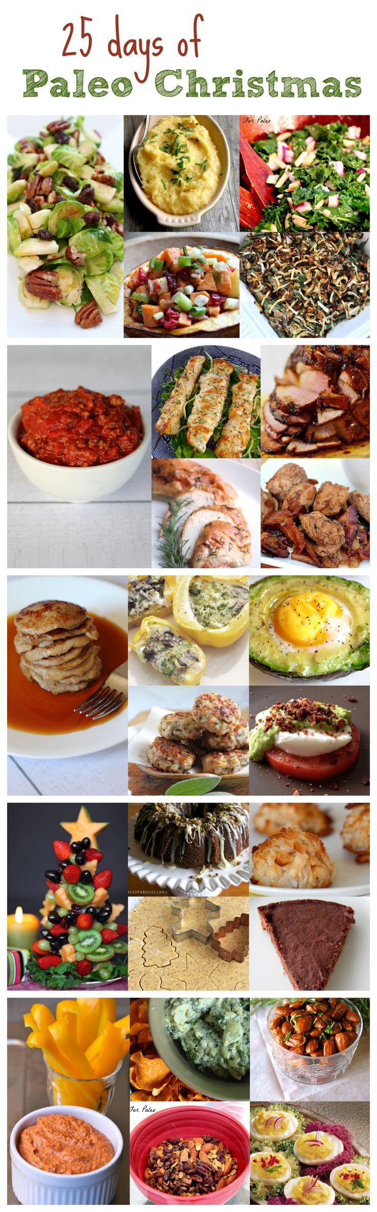25 Paleo Recipes for Christmas! #paleo