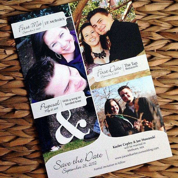 Timeline save the date with pictures #savethedate #timeline #invitation #wedding #timelinesavethedate #paperduo