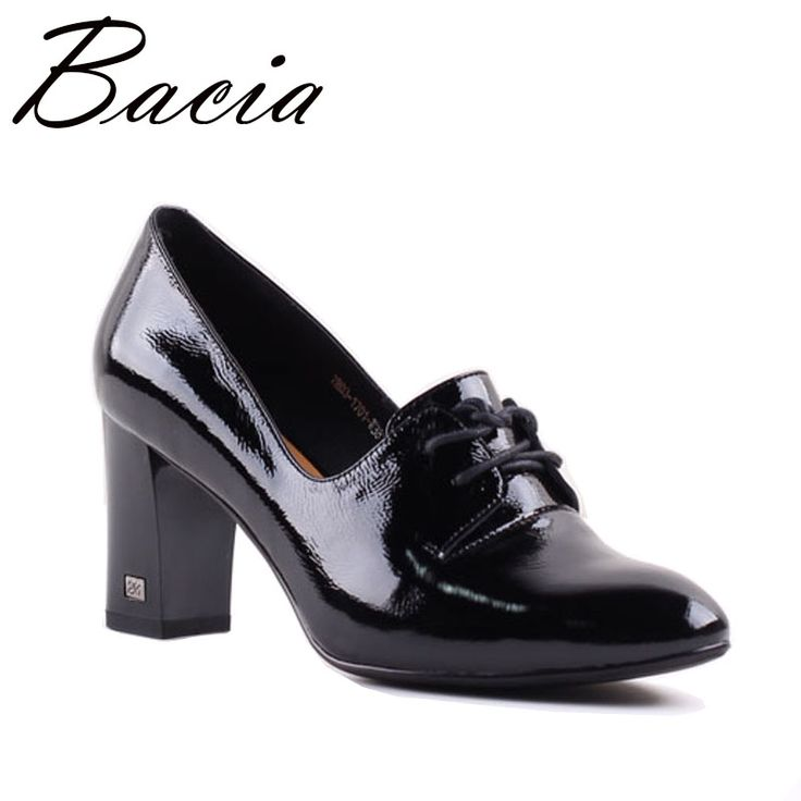 Find More Women's Pumps Information about Bacia Full Grain Leather & Sheep Skin Black High Heel Square Heel Lace Up Pumps Genuine Leather Handmade Shoes Size 33 41 SA054,High Quality heels laces,China heels lace up Suppliers, Cheap black high heels from Bacia on Aliexpress.com